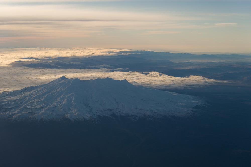 Snow covered Mount Ruapehu