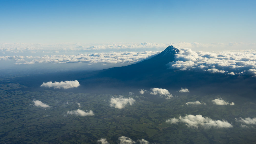 Lovely views over Mount Tarnaki from 10,000ft.
