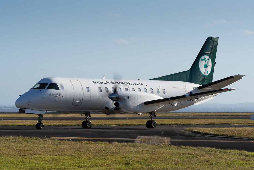 Air Chathams Saab 340 ZK-KRA in Auckland. January 2017.