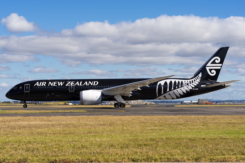 Air New Zealand Boeing 787-9 ZK-NZE in Auckland. January 2017.