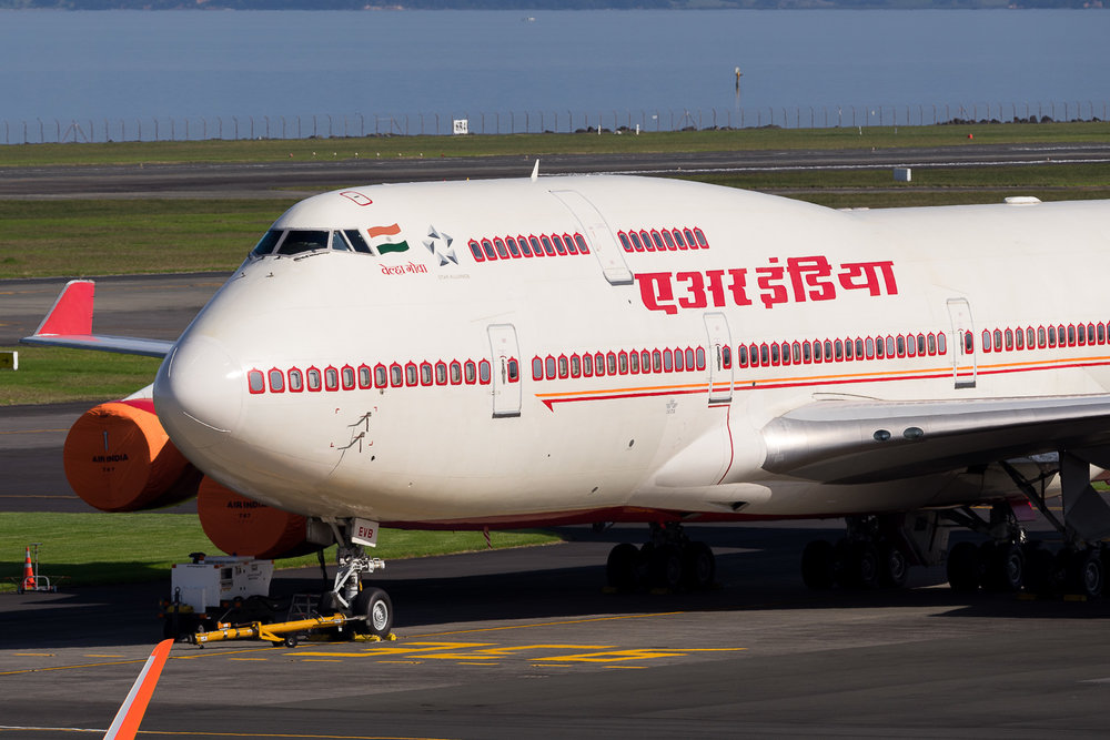Air India Boeing 747-400 VT-EVB, VIP visit. April 2016