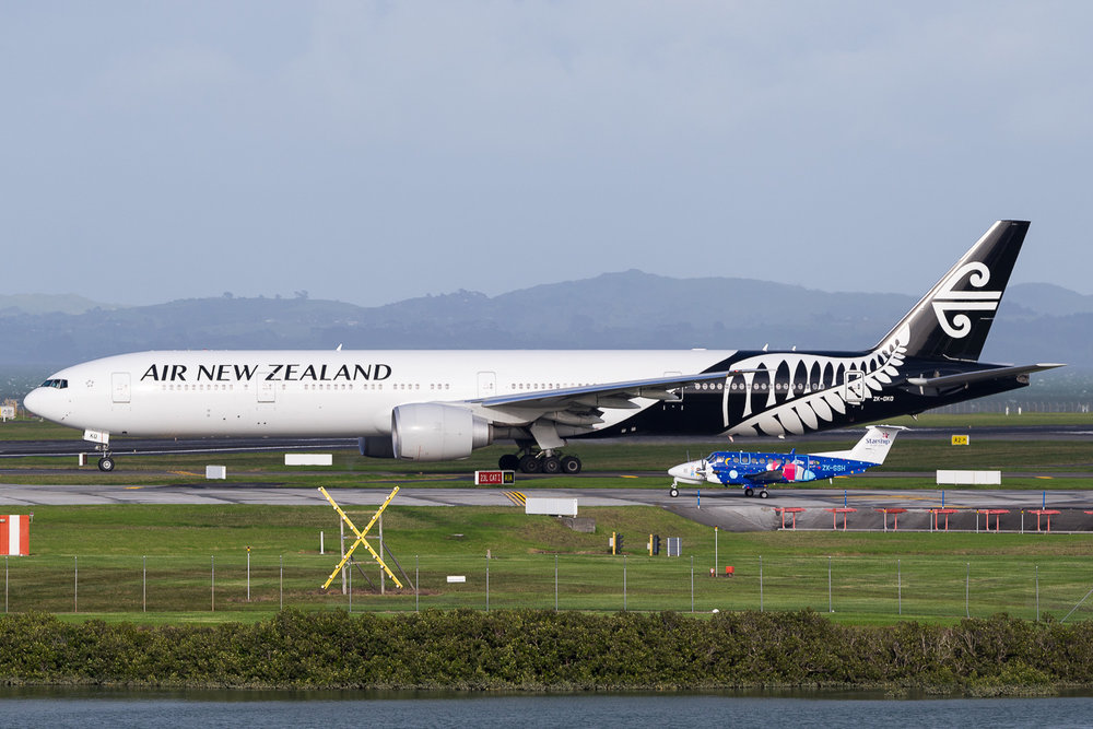 Air New Zealand Boeing 777-300ER ZK-OKO in Auckland. May 2016