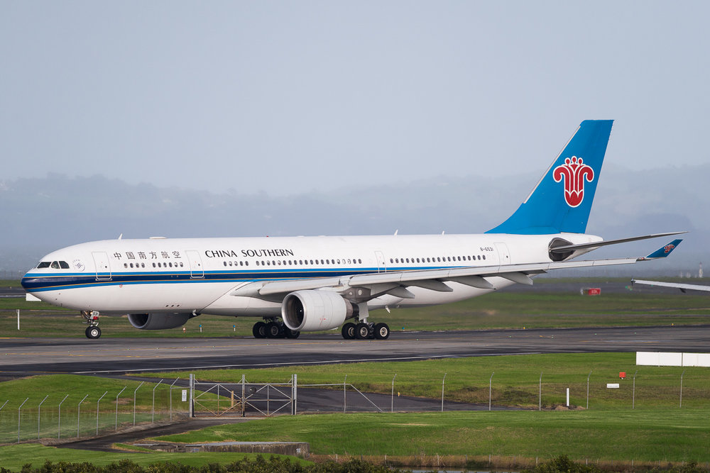 China Southern Airbus A330-200 B-6531 in Auckland. May 2016