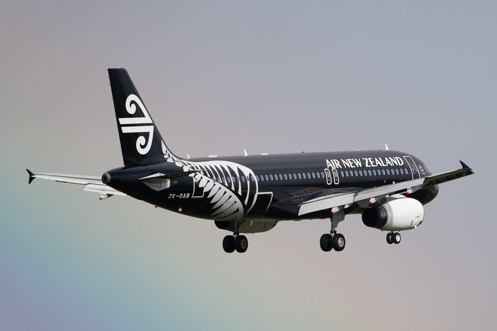 Air New Zealand Airbus A320 ZK-OAB in Auckland. May 2016