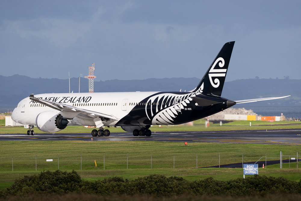 Air New Zealand Boeing 787-9 ZK-NZG in Auckland. May 2016
