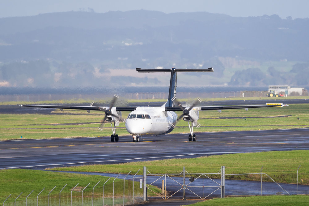 Air Nelson Dash 8 Q300 ZK-NEQ in Auckland. May 2016