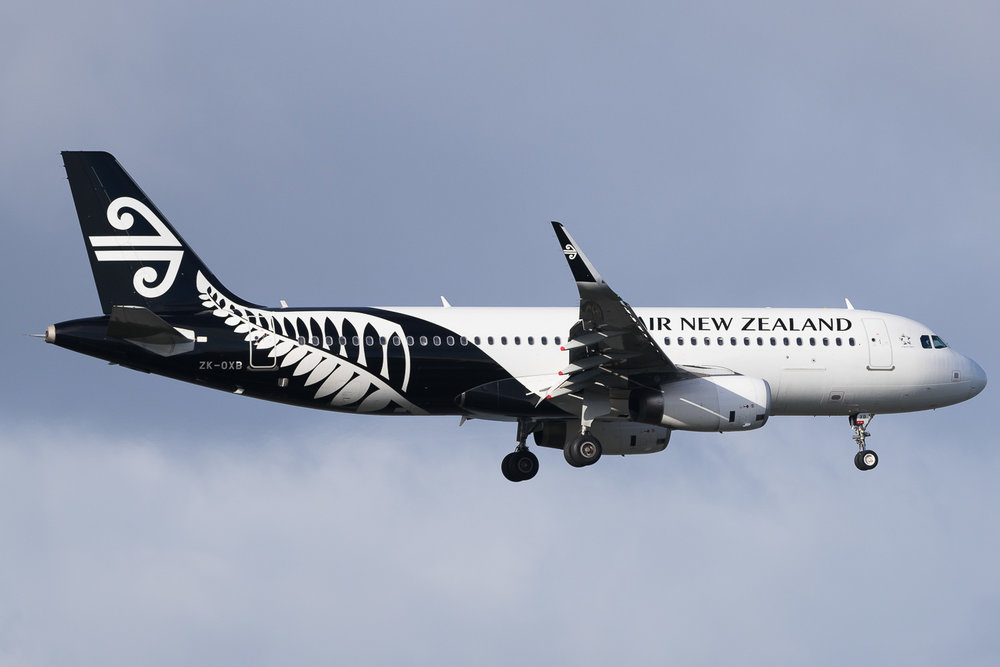 Air New Zealand Airbus A320 ZK-OXB in Auckland. May 2016