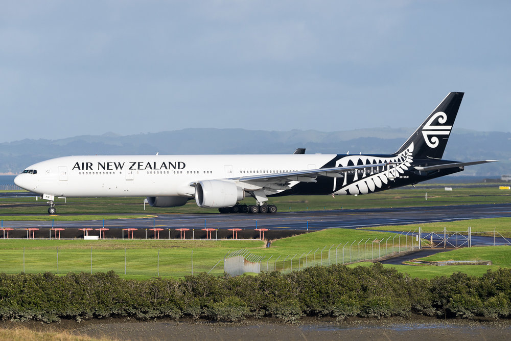Air New Zeaalnd Boeing 777-300ER ZK-OKM in Auckland. May 2016