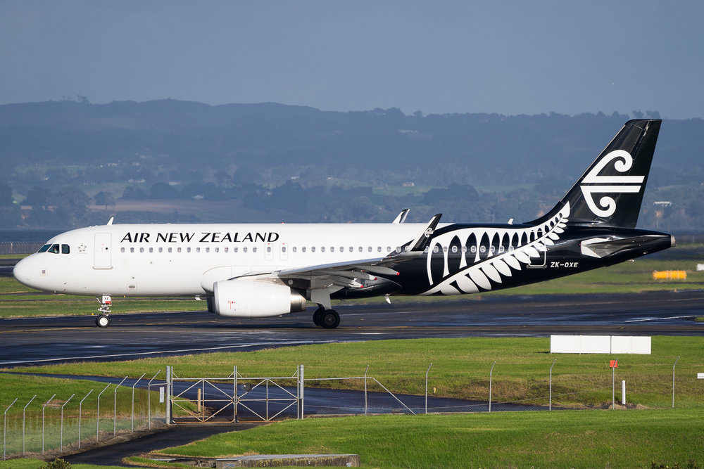 Air New Zealand Airbus A320 ZK-OXE in Auckland. May 2016
