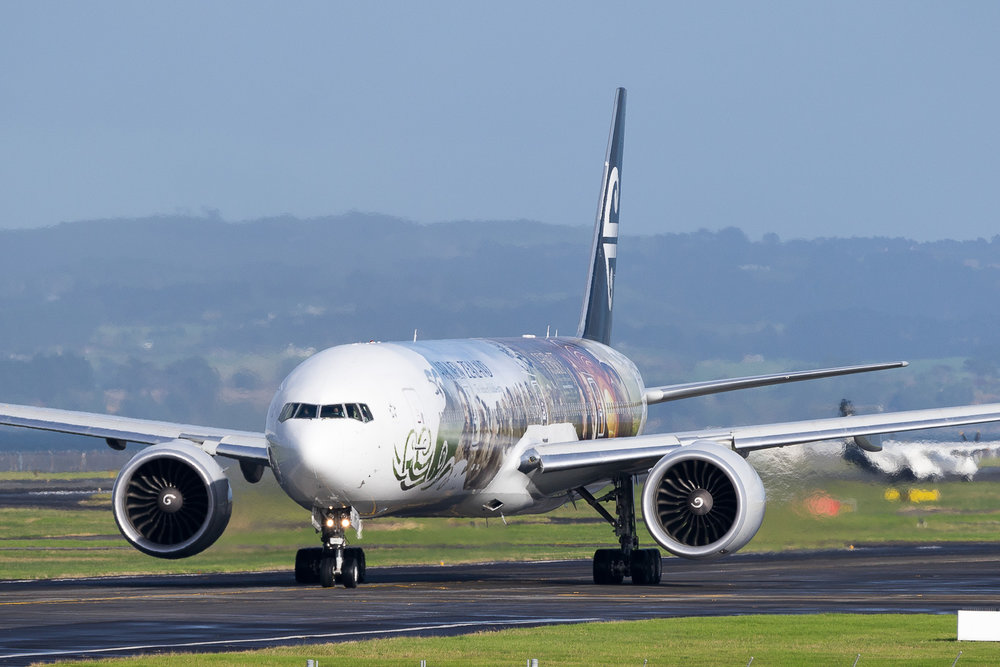 Air New Zealand Boeing 777-300ER ZK-OKP in Auckland. May 2016