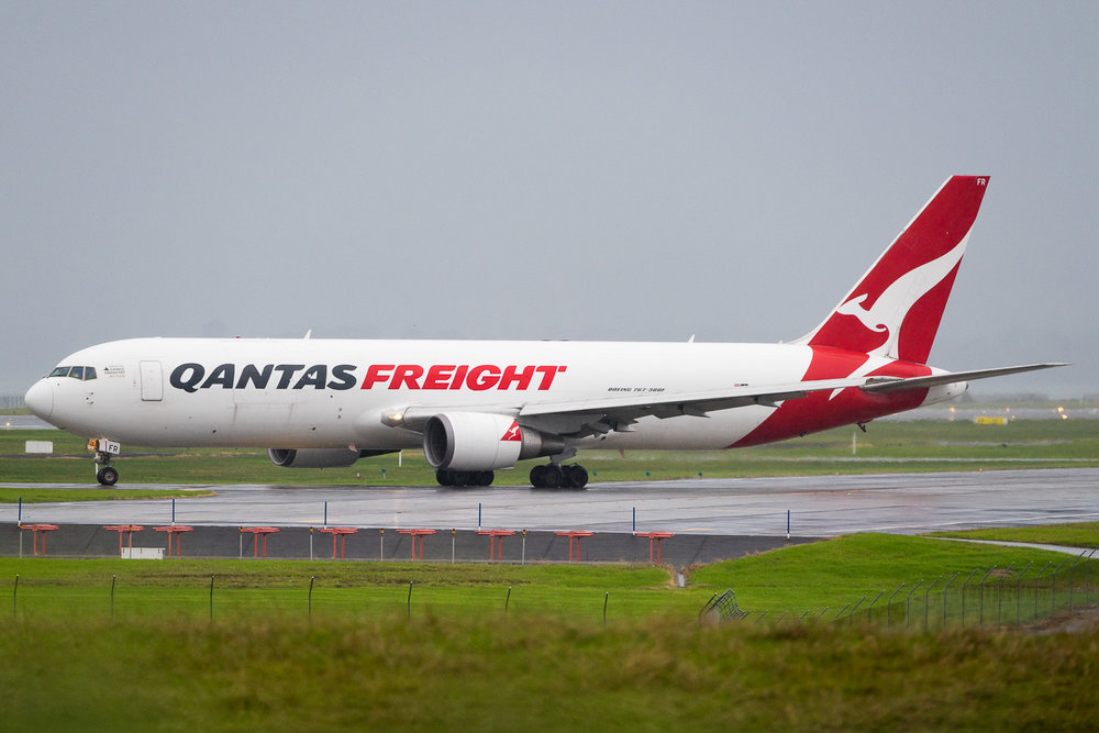 Qantas Boeing 767-300ERF VH-ERF in Auckland. May 2016