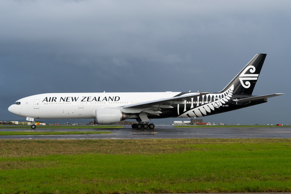 Air New Zealand Boeing 777-200ER ZK-OKE in Auckland. May 2016