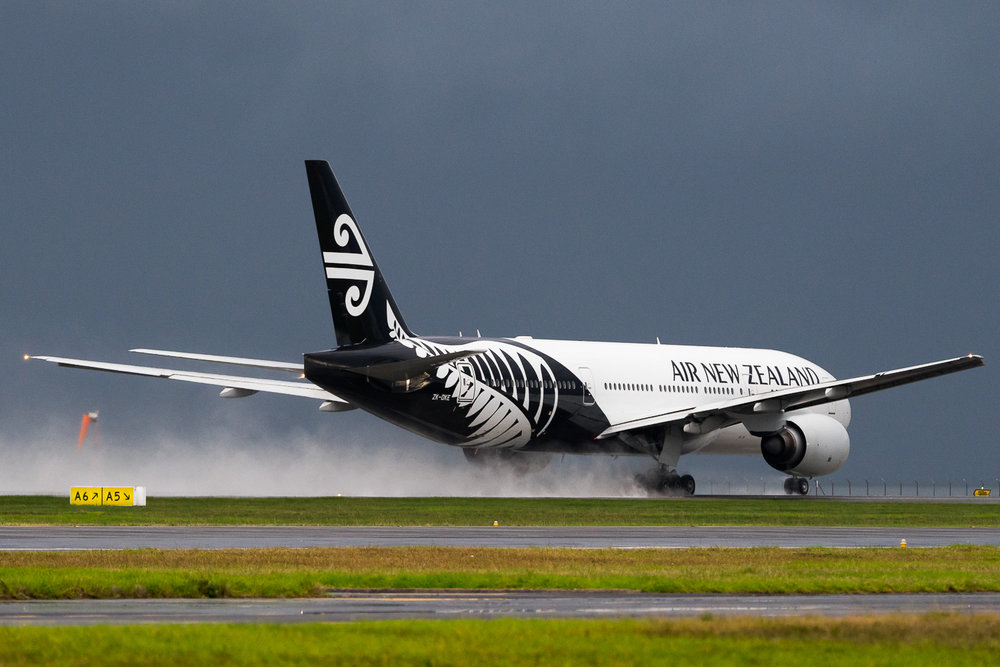 Air New Zealand Boeing 777-200ER ZK-OKE operating as NZ28 to Houston. May 2016