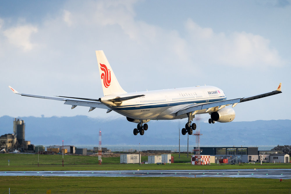 Air China Airbus A332 B-5918 in Auckland. May 2016