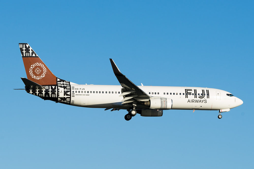 Fiji Airways Boeing 737-800, DQ-FJG. Fiji 410 returning to land in Auckland. After departure the aircraft held north of the aerodrome for an hour due to a landing gear problem. Landing was without incident. June 2016
