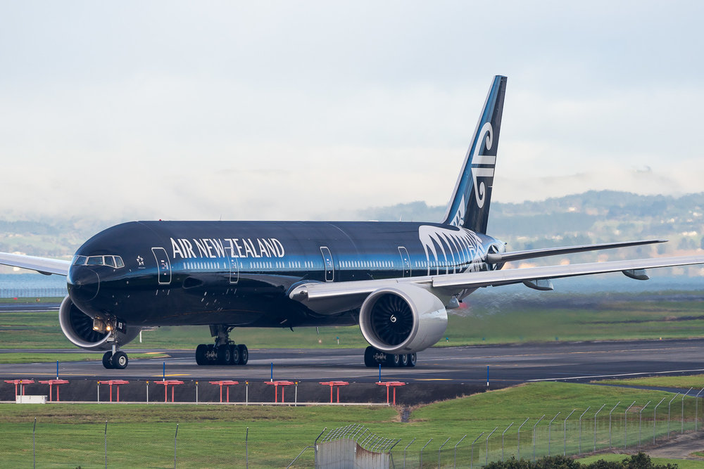 Air New Zealand Boeing 777-300ER ZK-OKQ in Auckland. June 2016