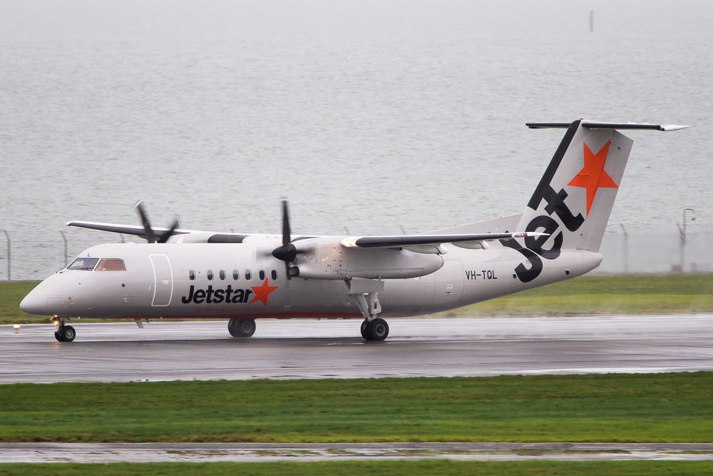 Jetstar Dash 8 Q300 VH-TQL in Auckland. June 2016