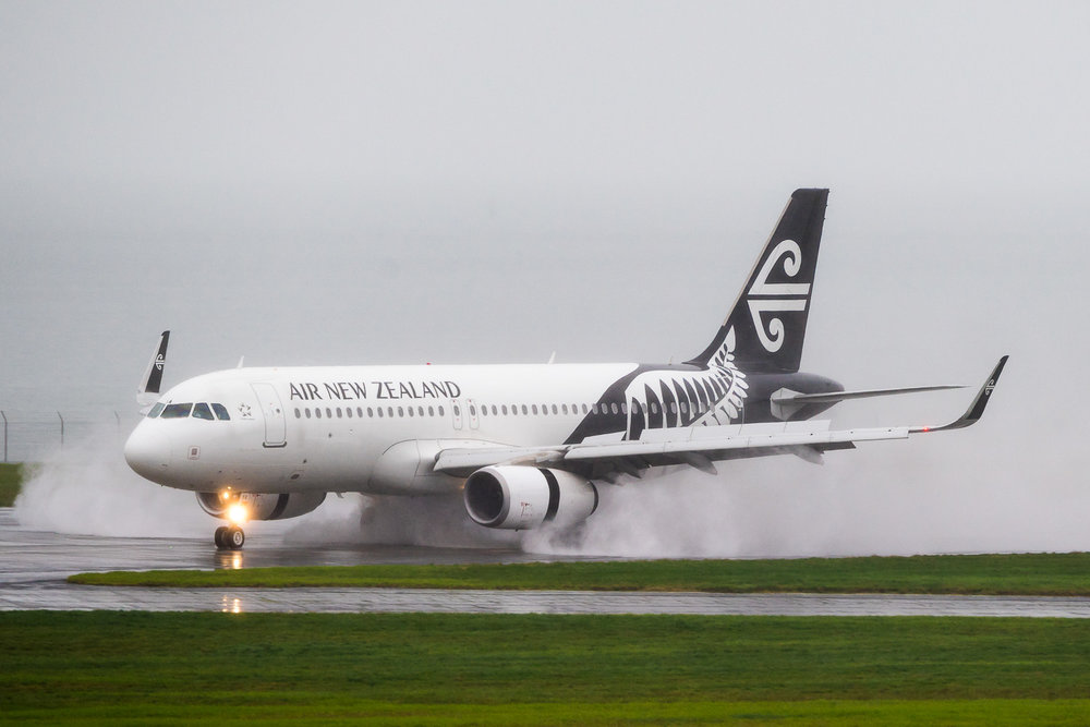 Air New Zealand Airbus A320 ZK-OXA in Auckland. June 2016