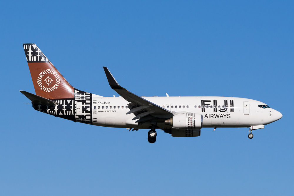 Fiji Airways Boeing 737-700 DQ-FJF in Auckland. July 2016
