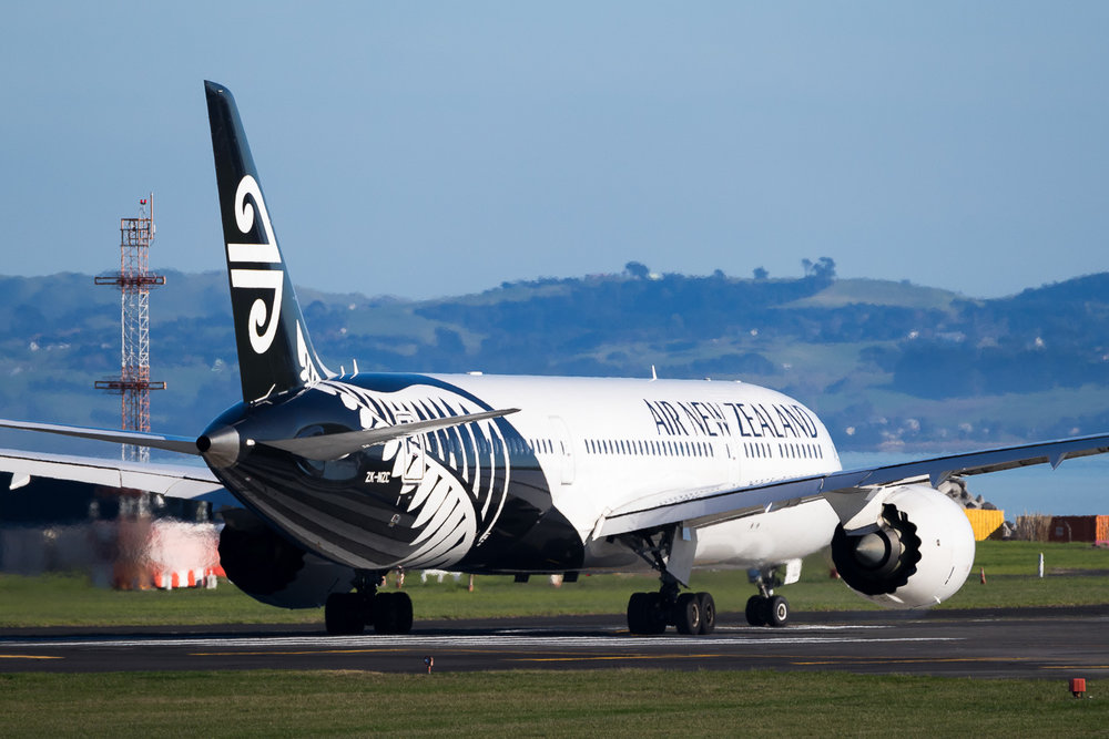 Air New Zealand Boeing 787-9 ZK-NZC in Auckland. July 2016