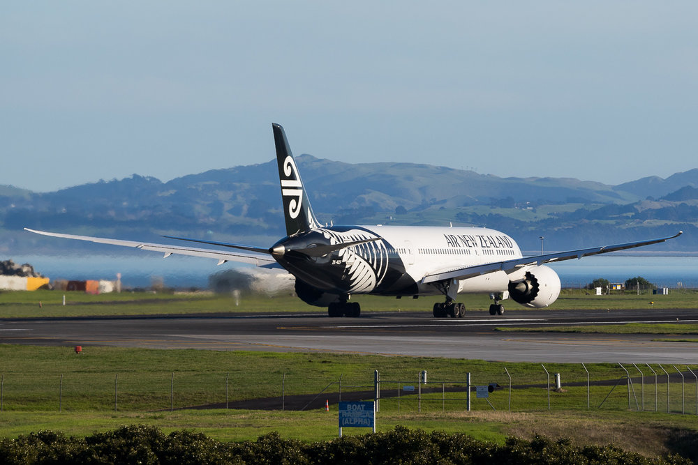 Air New Zealand Boeing 787-9 ZK-NZF in Auckland. July 2016