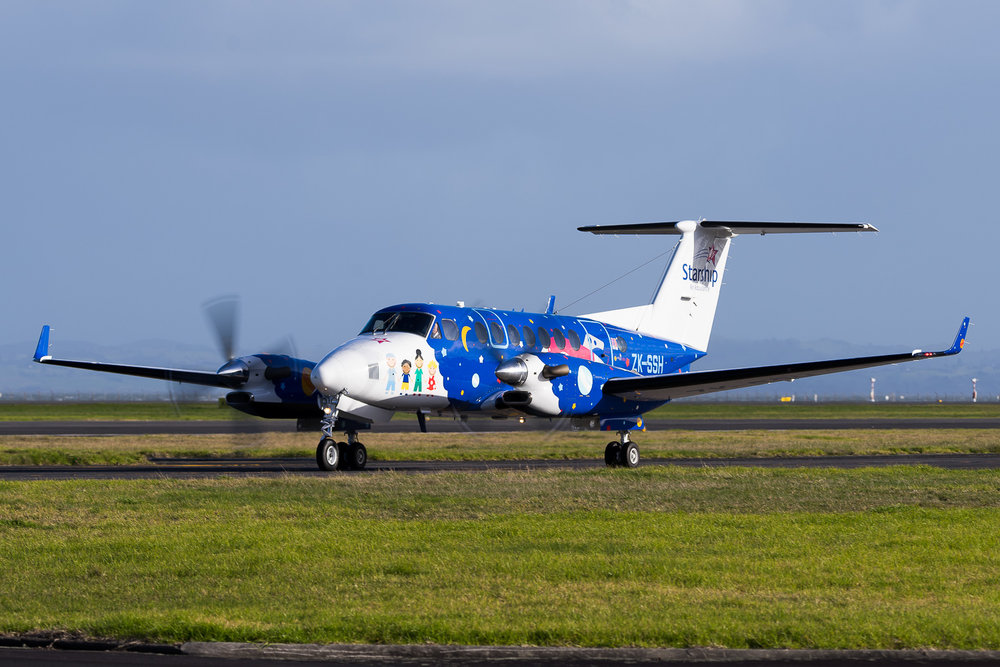 Beach King Air 350 ZK-SSH in Auckland. July 2016