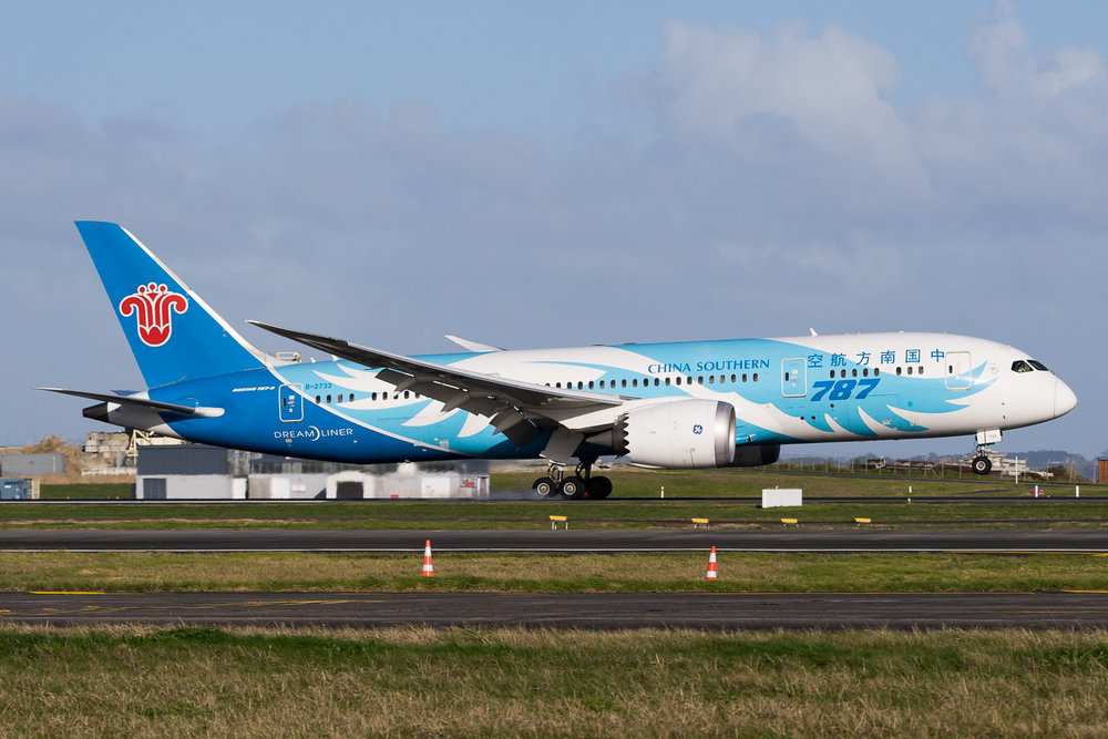 China Southern Boeing 787-8 B-2733 in Auckland. July 2016