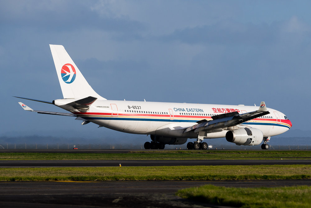 China Eastern Airbus A330-200 B-6537 in Auckland. July 2016