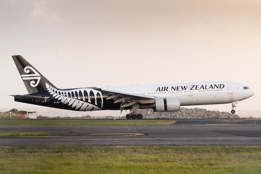 Air New Zealand Boeing 777-200ER ZK-OKA arriving as NZ273 from Tongatapu. July 2016