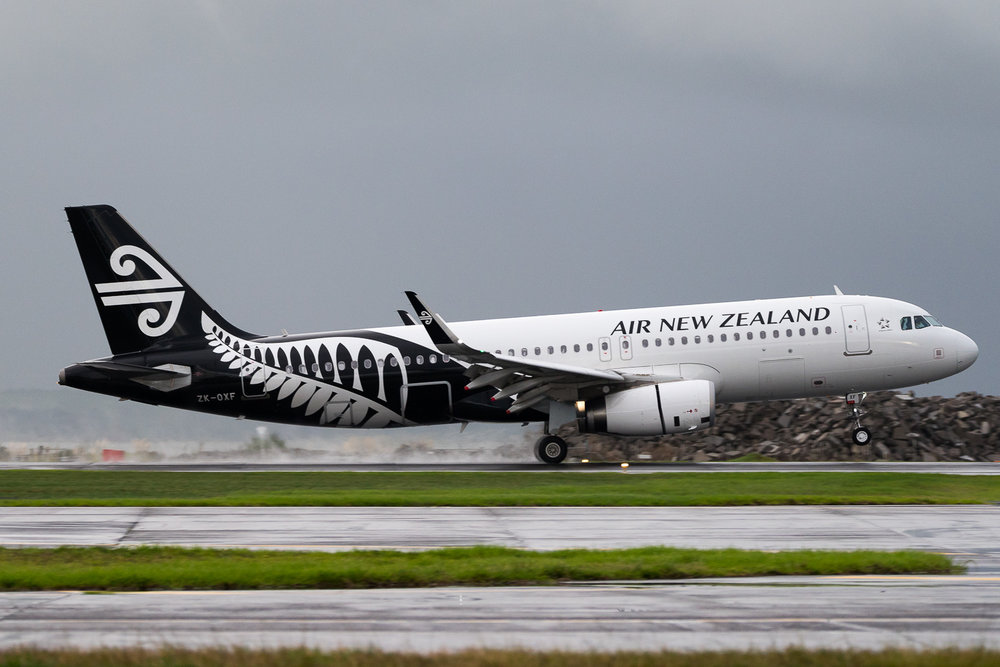 Air New Zealand Airbus A320 ZK-OXF in Auckland. May 2016