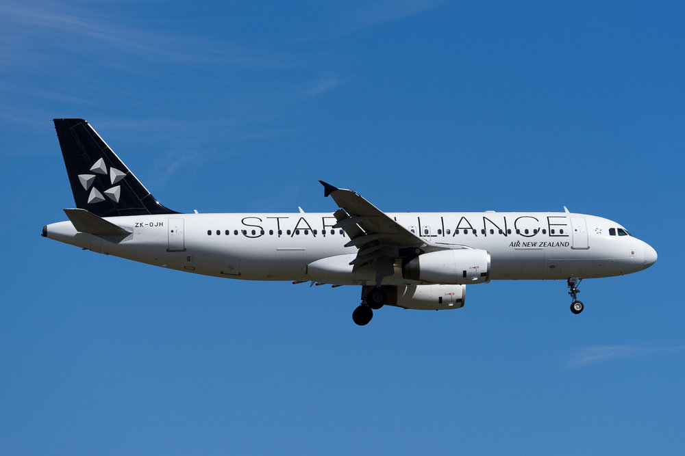 Air New Zealand Airbus A320 ZK-OJH in Auckland. February 2017
