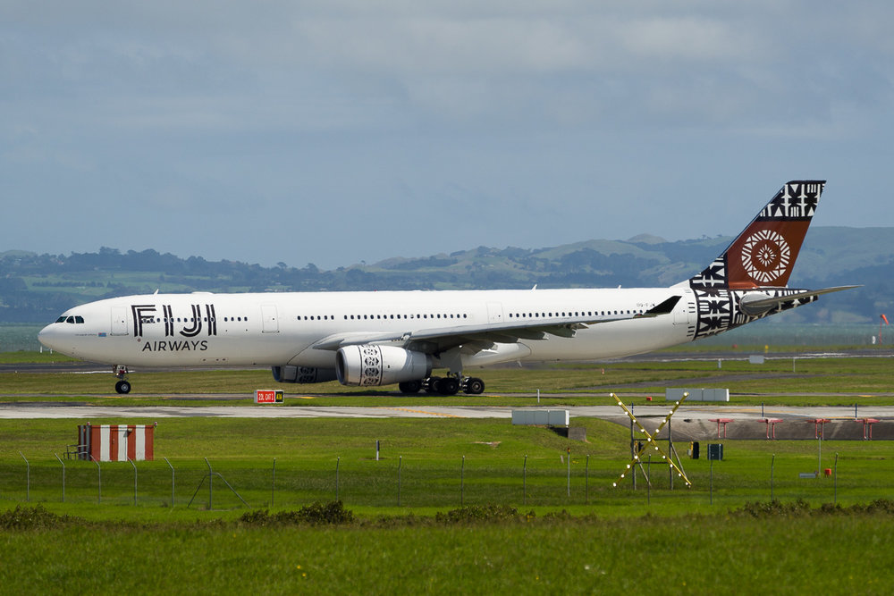 Fiji Airways Airbus A330-300 DQ-FJW at Auckland. March 2017