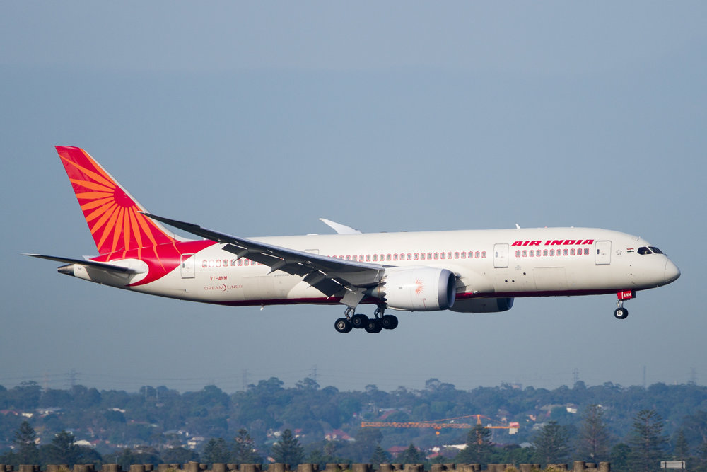 Air India Boeing 787-8 VT-ANM arriving in Sydney. December 2016