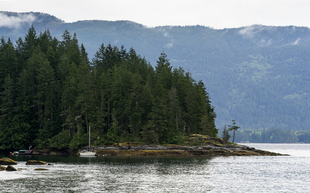 Views from Salery Bay, near Powell River, BC