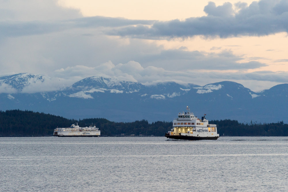 Crossing of ferries, Powell River BC