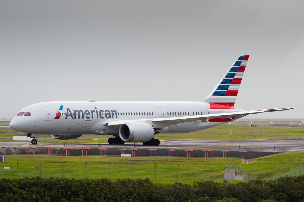 American Airlines Boeing 787-8 N802AN in Auckland. June 2017