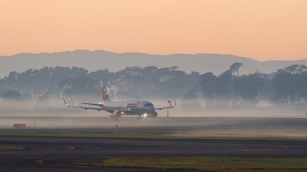 Jetstar Airbus A320 departing Auckland. June 2017