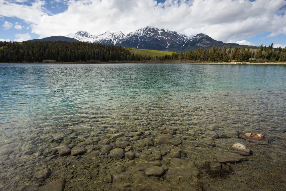 Clear waters of Patricia Lake, near Jasper AB