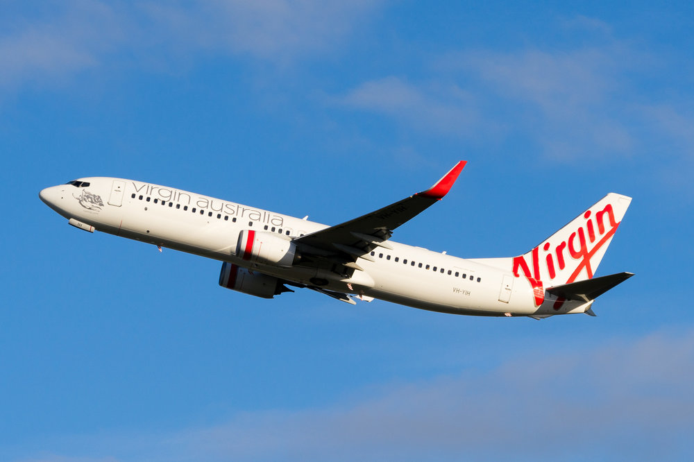 Virgin Australia Boeing 737-800 VH-YIH departing Auckland. August 2017
