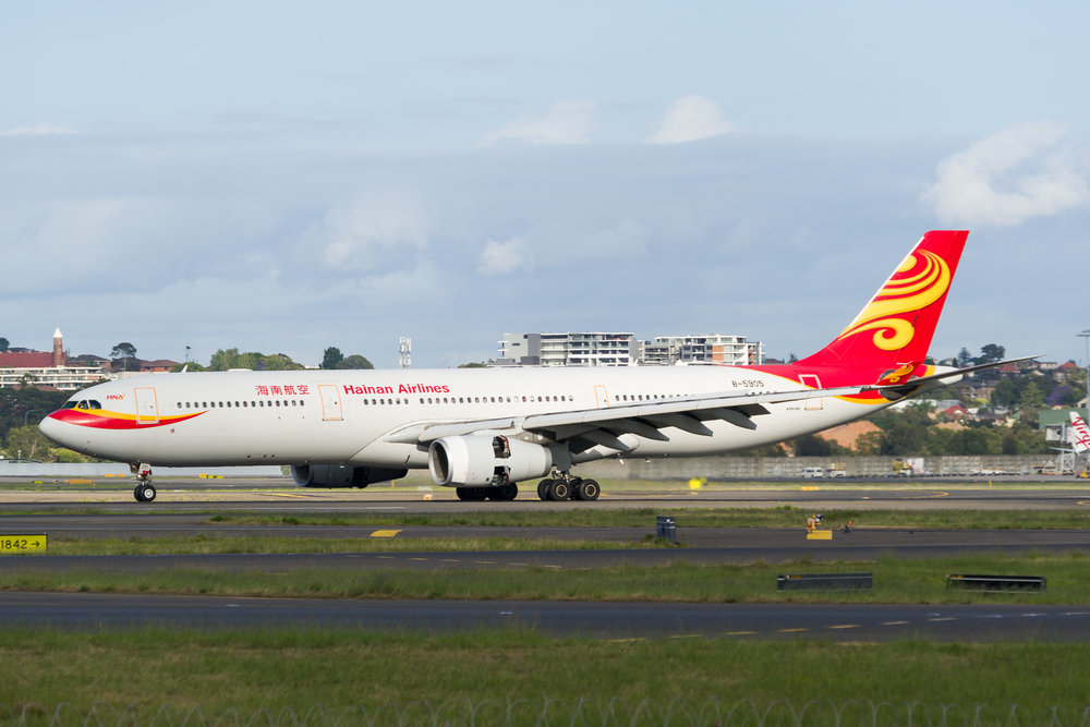 Hainan Airlines Airbus A330-300 B-5905 arriving in Sydney. 12/11/2017