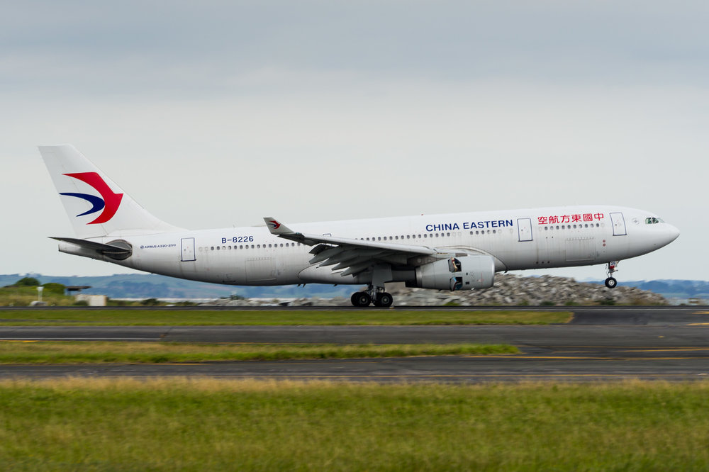 China Eastern Airbus A330-200 B-8226 arriving in Auckland. 24/11/2017