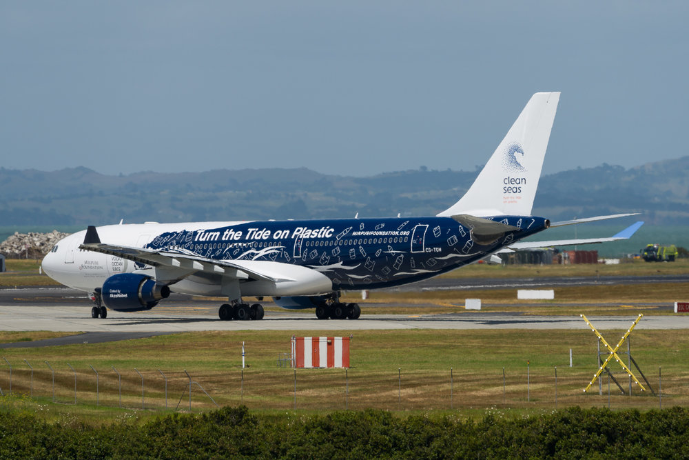 New Zealand 175 lining up for departure to Perth. Hi Fly Airbus A330-200 CS-TQW, temporarily replacing a Boeing 787-9. 19/12/2017