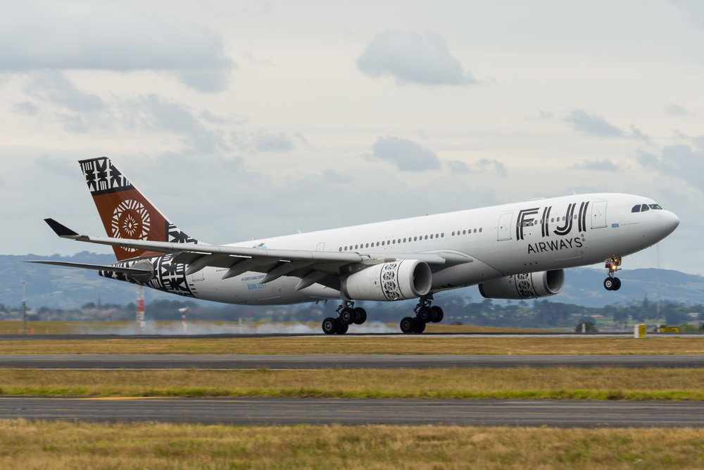 Fiji Airways Airbus A330-200 DQ-FJU arriving in Auckland. 26/12/2017