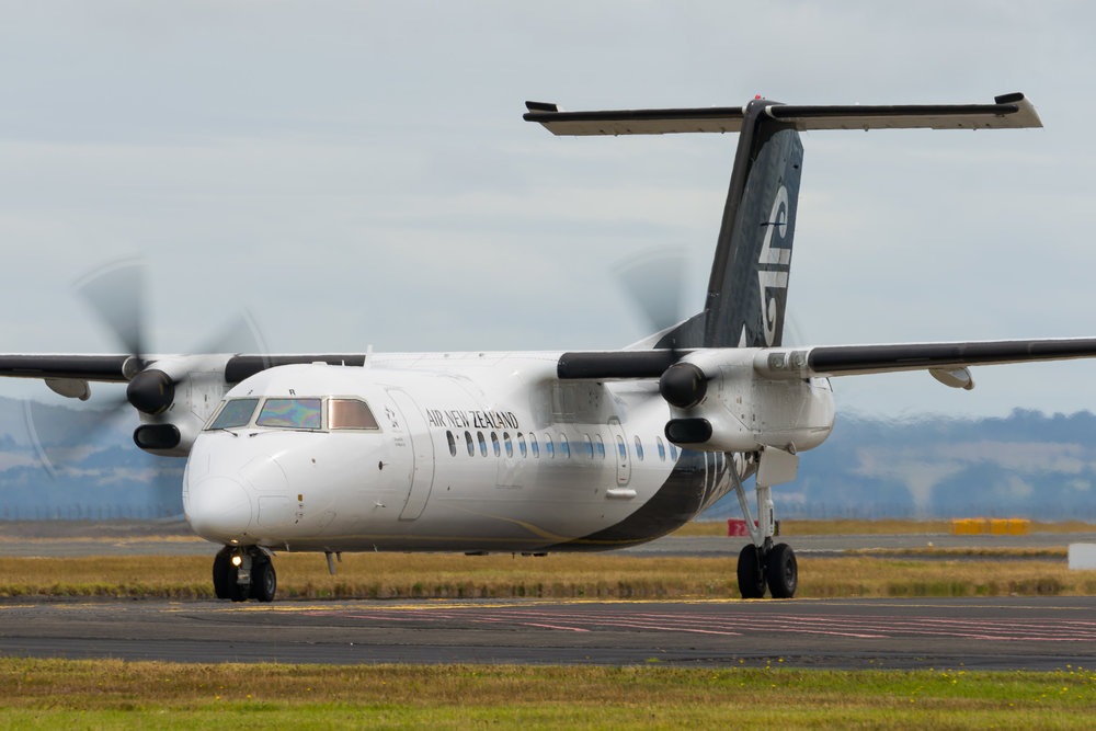 Air Nelson Bombardier Q300 ZK-NER departing Auckland. 26/12/2017