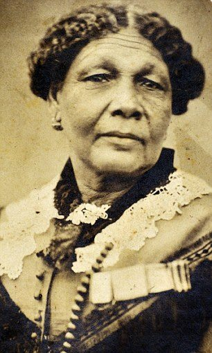 This is Mary Seacole of Jamaica and Britain. She established a nursery behind enemy lines during the Crimean War and was named number 1 on the list of great Black Britons.