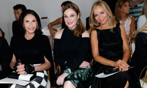 Club members - Mouna Ayoub, Becca Cason Thrash and Joanna Przetakiewicz at Giambattista Valli haute couture show Fall/Winter 2013