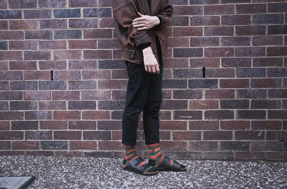 Let's not forget the boys too. Birkenstocks paired with sausage socks from Violet Green