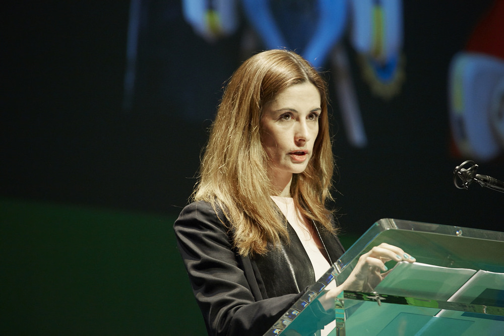 Livia Firth speaking at the renowed Copenhagen Fashion Summit 2016