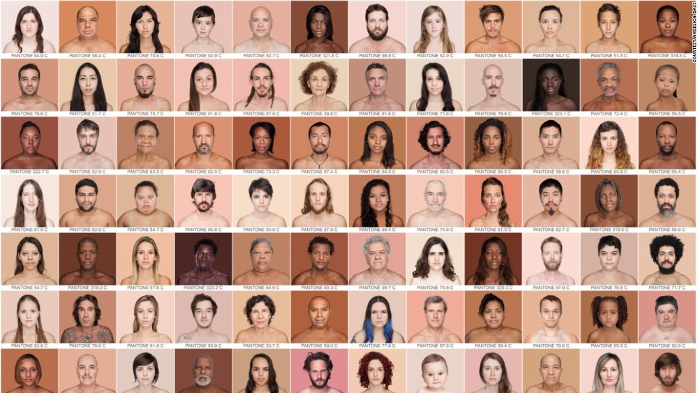 Source   Humanae   - A project highlighting our true & various skin colours using the  PANTONE®  colour scheme and the abundance of beauty there is!