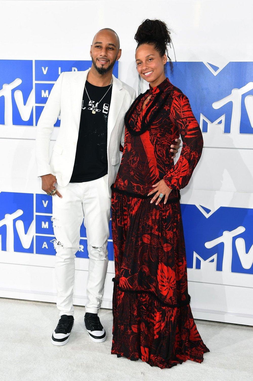 Alicia Keys in A Just Cavalli Dress